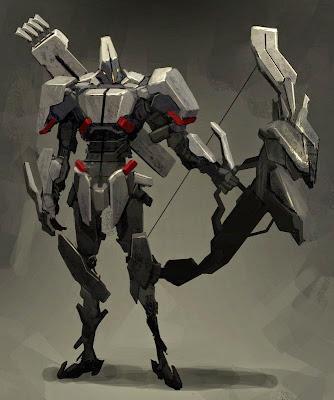 Fantásticas ilustraciones de Robotos de combate.