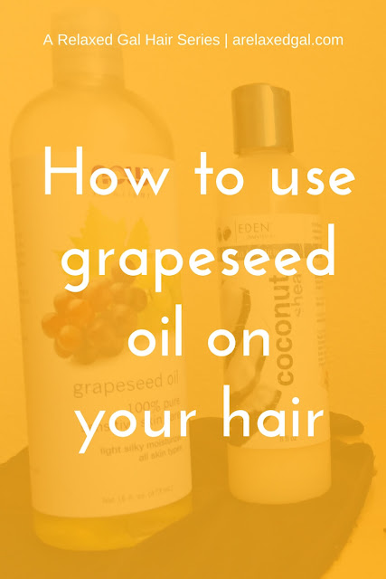 Grapeseed oil is an oil with multiple benefits and uses for relaxed, natural and colored hair. See what they are at arelaxedgal.com.