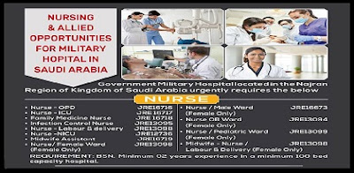 Nursing & Allied Opportunities for Government Hospital in Saudi Arabia