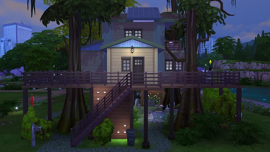 Urban Treehouse Sims 4 Houses