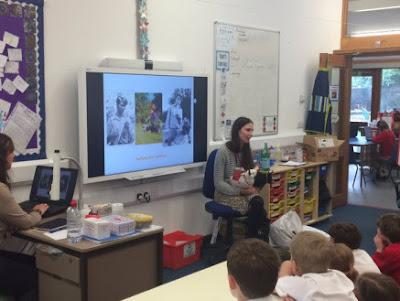 Jess Butterworth on a school visit