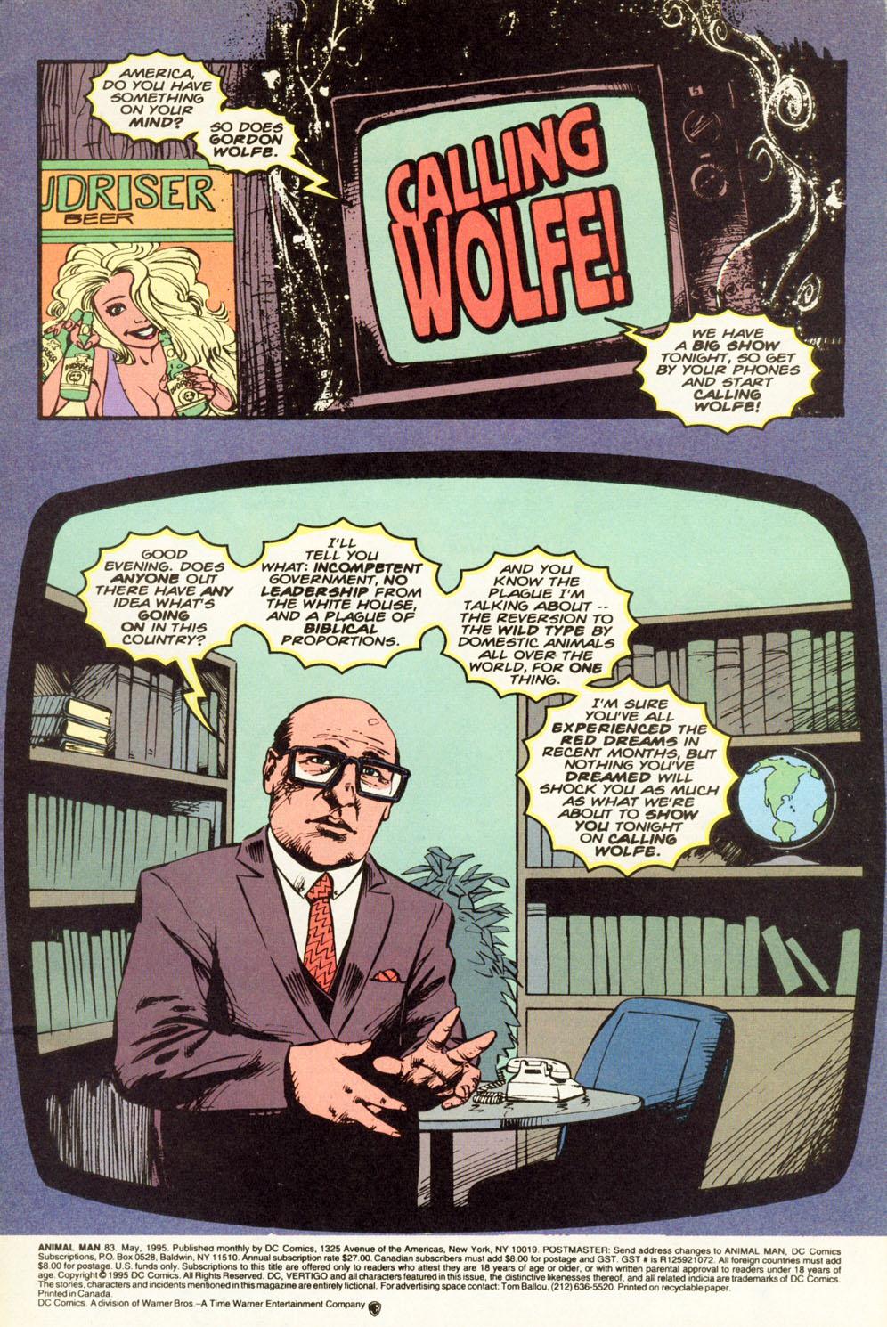 Animal Man (1988) 83 Page 2