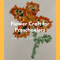 Flower crafts, kids crafts, tissue paper