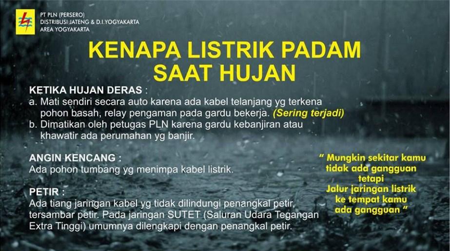 Tahu Nggak Mengapa Listrik Sering Padam Saat Hujan