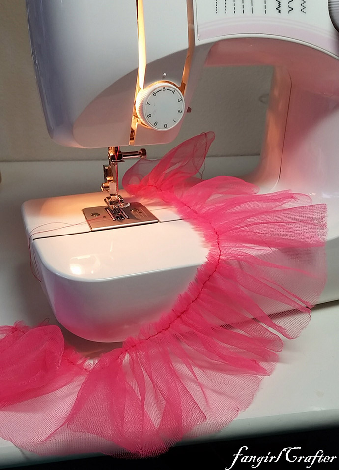 sewing tutu fabric for Kaylee Frye inspired dress
