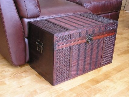 total fab wicker storage trunk coffee tables. Black Bedroom Furniture Sets. Home Design Ideas