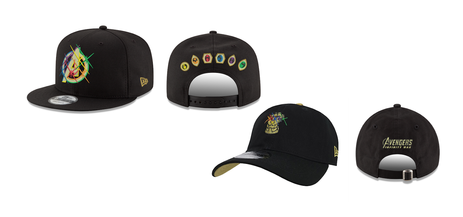 The Blot Says...: Avengers: Infinity War Snapback Hat Collection by ...
