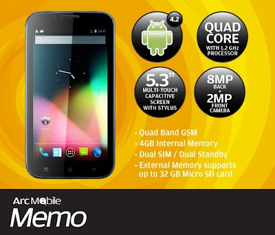 Arc Mobile Memo: Specs, Price and Availability in the Philippines
