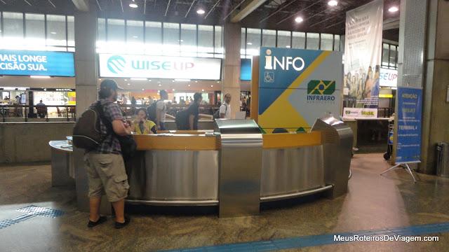 Balcão de informações da INFRAERO - Aeroporto de Guarulhos