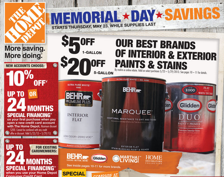 "Then, Home Depot continued the veteran discount during specific times of the year, like on Veterans Day. That discount was for ""all active duty personnel, reservists, retired military, veterans and ."
