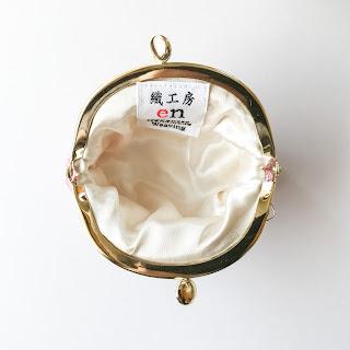 手織りシルクのがま口(SAKURA蜻蛉・ゴールド)