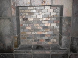 Slate Tile in Wall Soap Box