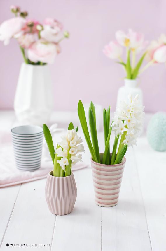 Vase rosa skandinavisch deko Hyazinthen