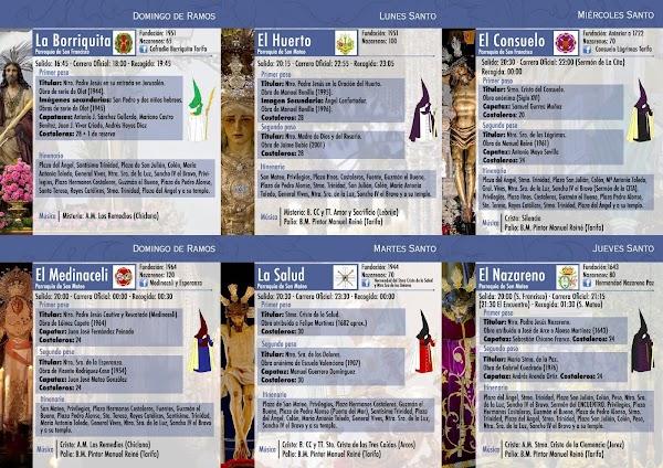 Programa, Horario e Itinerario Semana Santa Tarifa (Cádiz) 2017