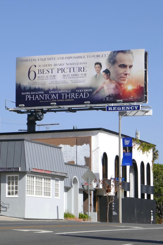 Phantom Thread Oscar nominee billboard