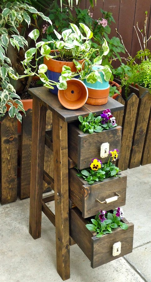 Vintage Style Ladder / Planter - SOLD