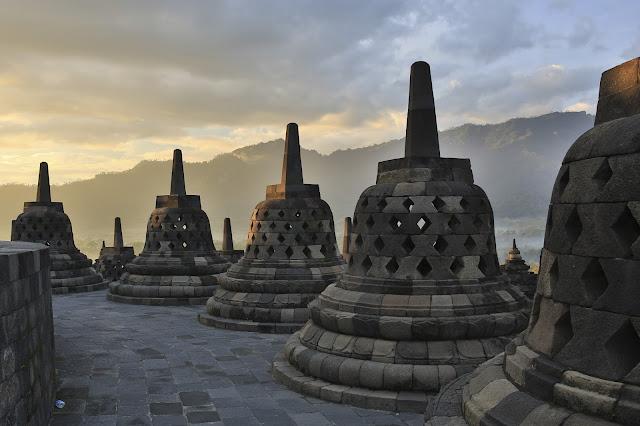 Borobudur templo budista en la isla de Java