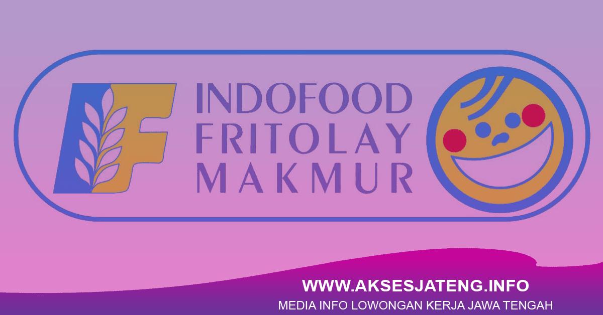 Lowongan PT Indofood Fritolay Makmur Semarang Januari 2018