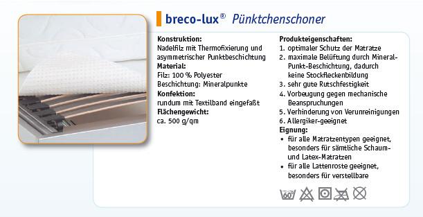 Produkteigenschaften BRECO-LUX Pünktchenschoner 1B-Ware von BNP