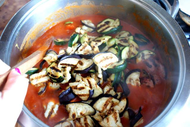 Handerek,kiełbasa wiejska,bakłażan,kuchnia włoska, dania z dyni,dania jednogarnkowe,dania z papryką,szybkie dania,cucina italiana