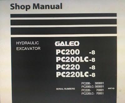 Komatsu pc200-8. pc200lc-8 pc220-8 pc220lc-8 galeo