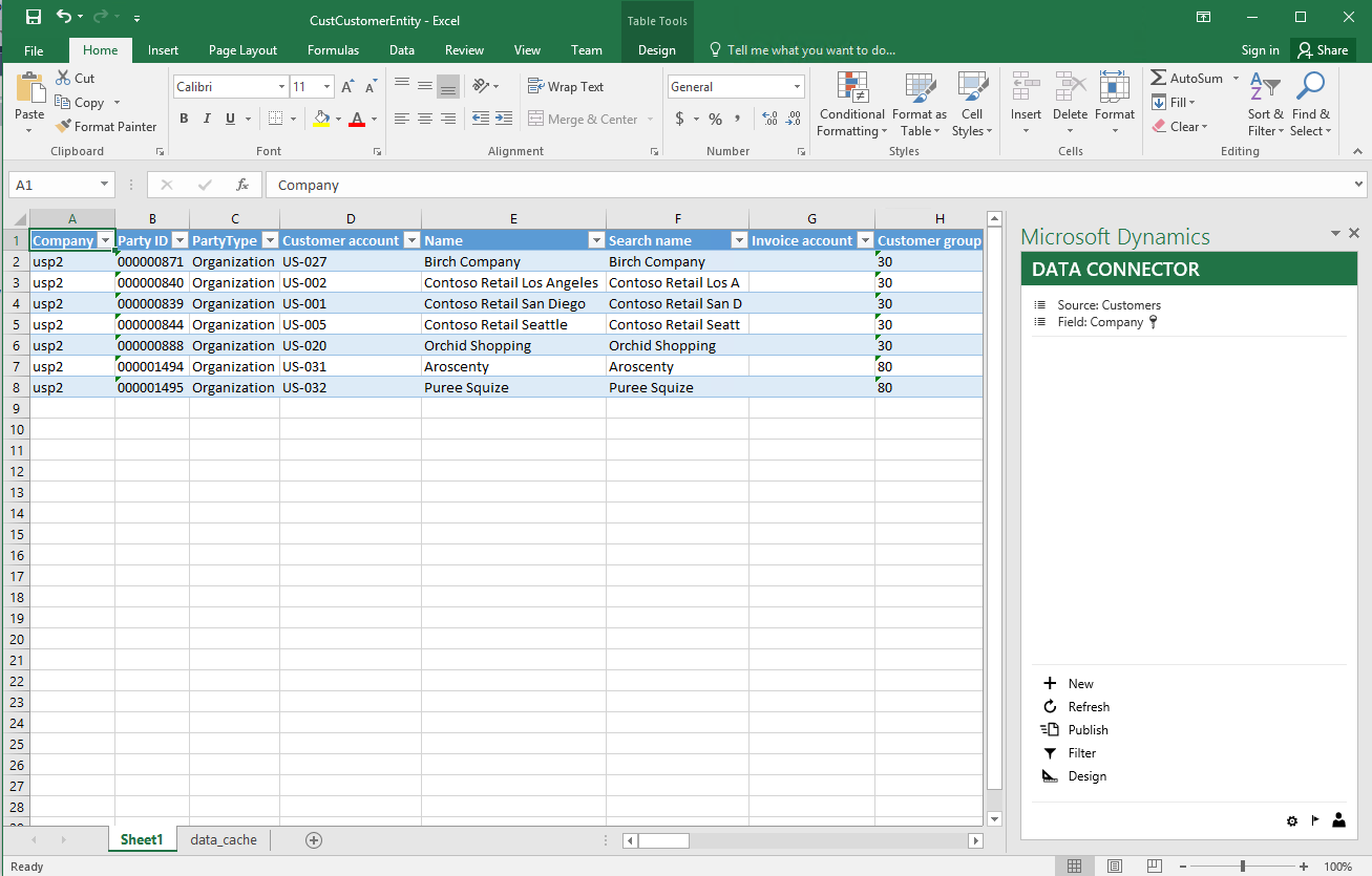 can i export data from excel to a pdf