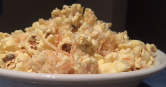 White Chocolate Toasted Coconut Popcorn Recipe
