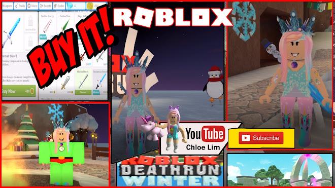 Roblox Deathrun Gameplay - Buying that Snowman Sword   Chloe