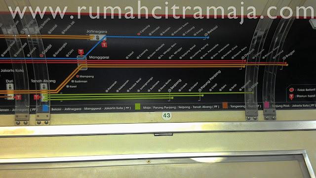 Gambar Jalur Rel Kereta Api Ke Maja / Parung Panjang