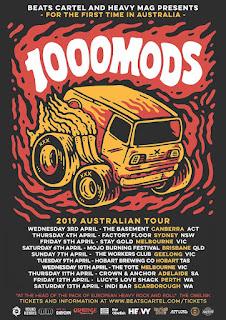 1000mods Australian tour 2019