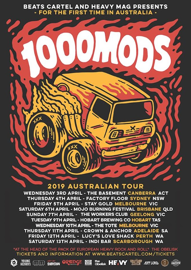 [News] 1000mods Australian tour 2019