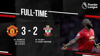 Manchester United vs Southampton 3-2 Video Gol Highlights
