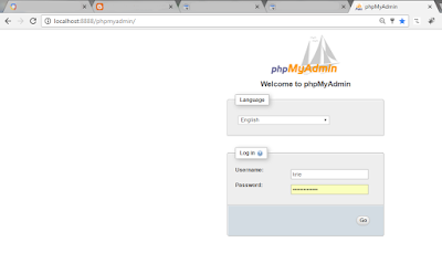 phpmyadmin login screen is shown when accessing phpmyadmin after creating the ssh tunnel