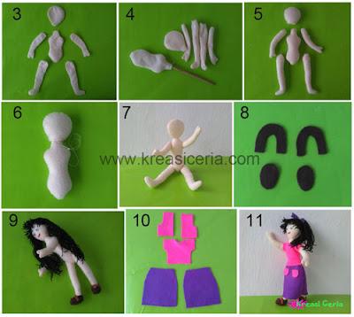 Tutorial boneka barbie dari kain flanel