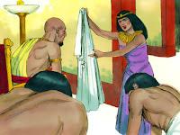Като чу господарят му думите, които му каза жена му