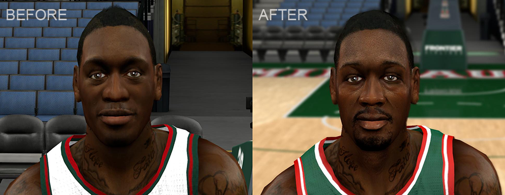 NBA 2K14 Larry Sanders Cyberface Patch