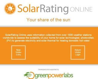 ادات للحصول على معطيات الإشعاع الشمسي في العالم solar rating online