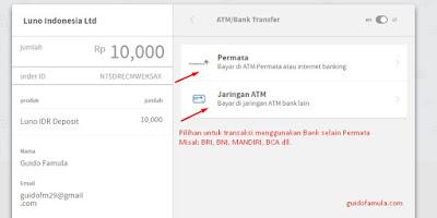 Inilah cara deposit LUNO selain menggunakan Bank Permata...