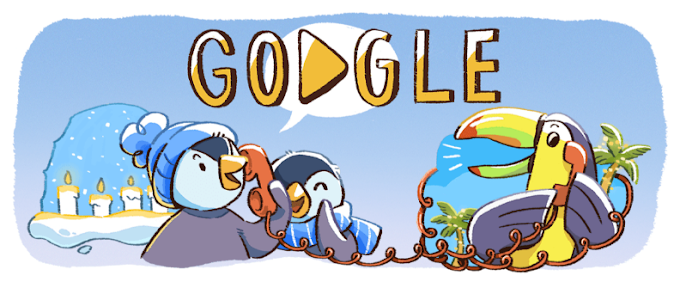 Google डूडल दिसंबर के वैश्विक उत्सवों की शुरुआत - 'Tis the season