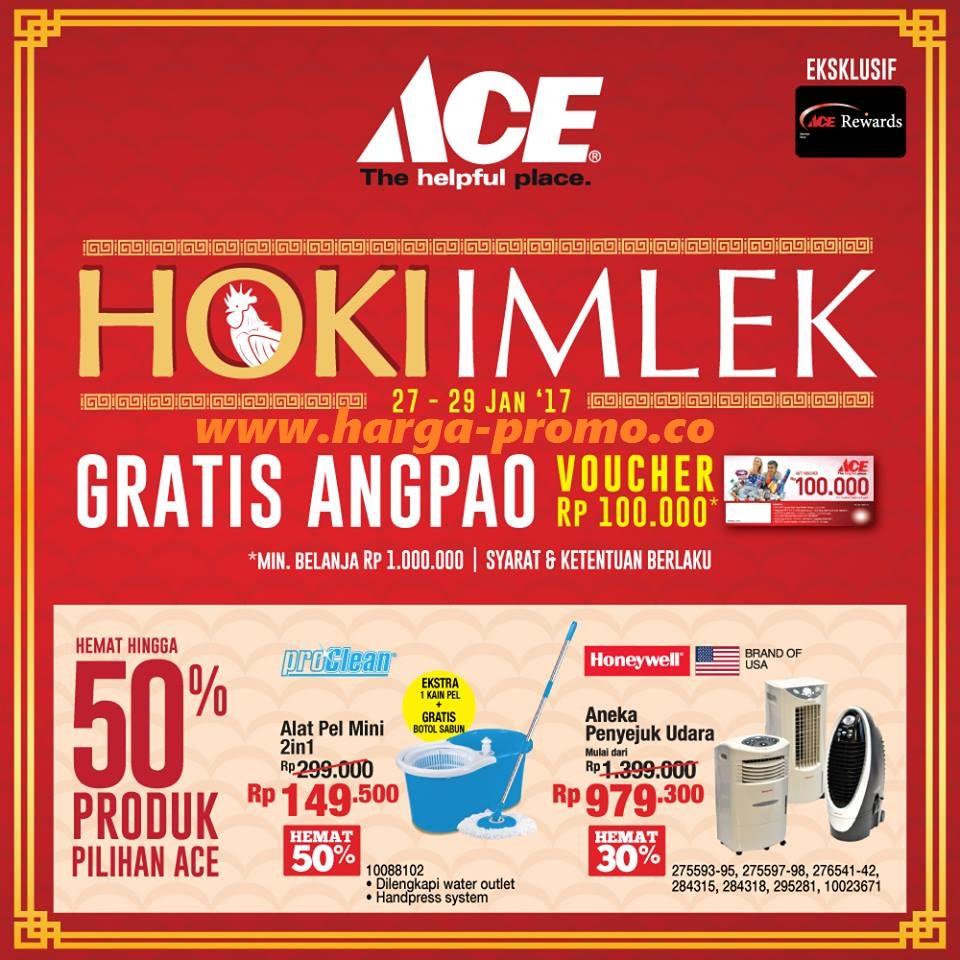 Katalog Promo ACE HARDWARE Terbaru Hoki Imlek Periode 27 - 29 Januari 2017