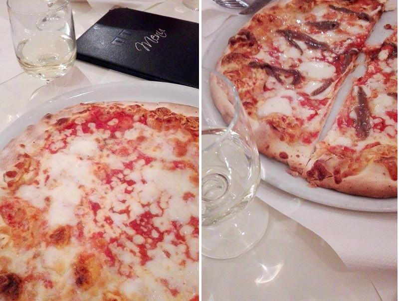 wloska pizza, rzymska pizza, wino, Rzym ,Włochy, weekend, restauracja, kolacja