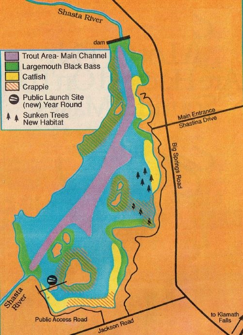 lake fishing map and fishing report, how to fish abd where to find trout and bass