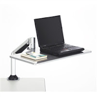 Safco laptop sit to stand workstation