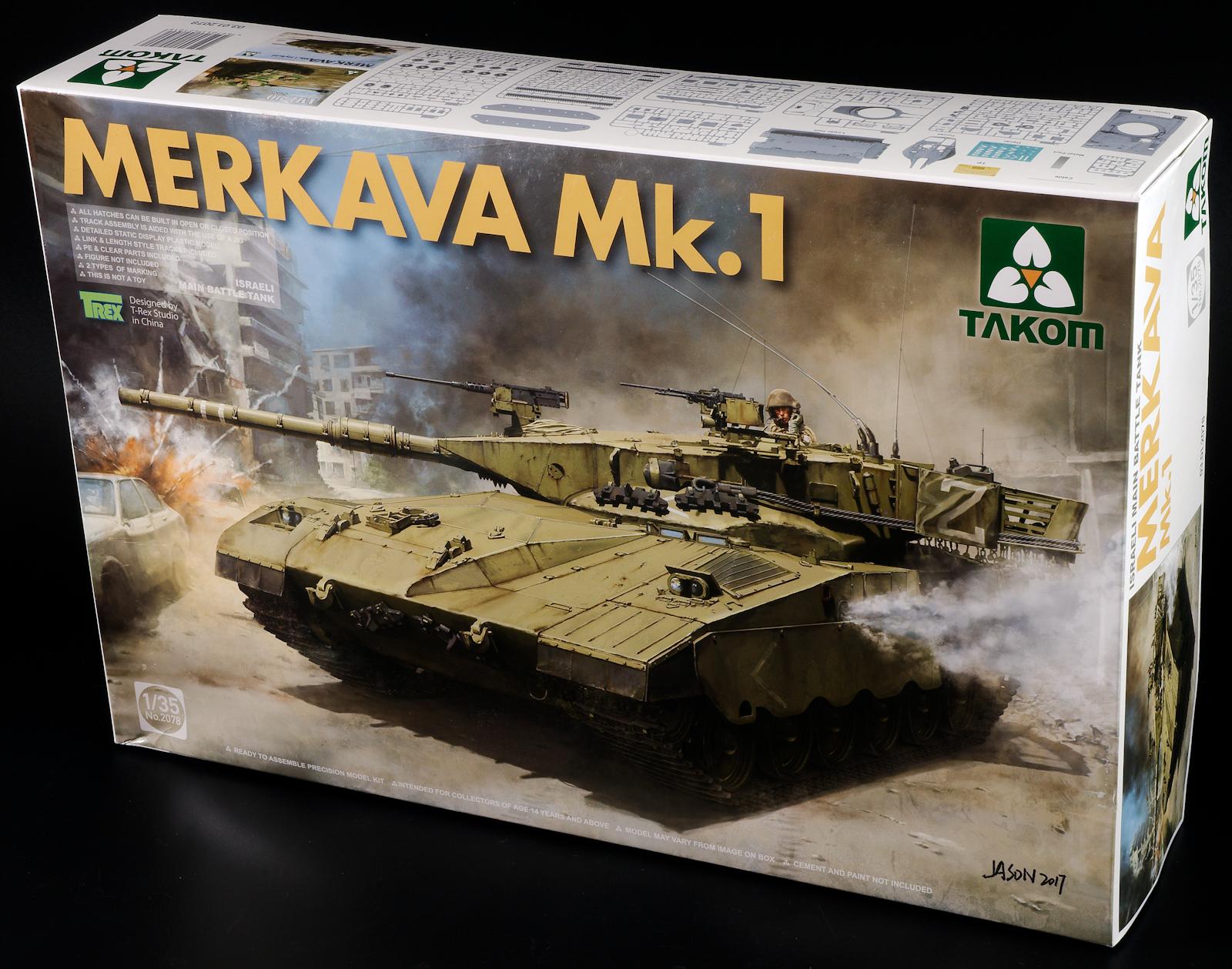 TAKOM 2078A 1//35 IDF Merkava Mk I MBT white box