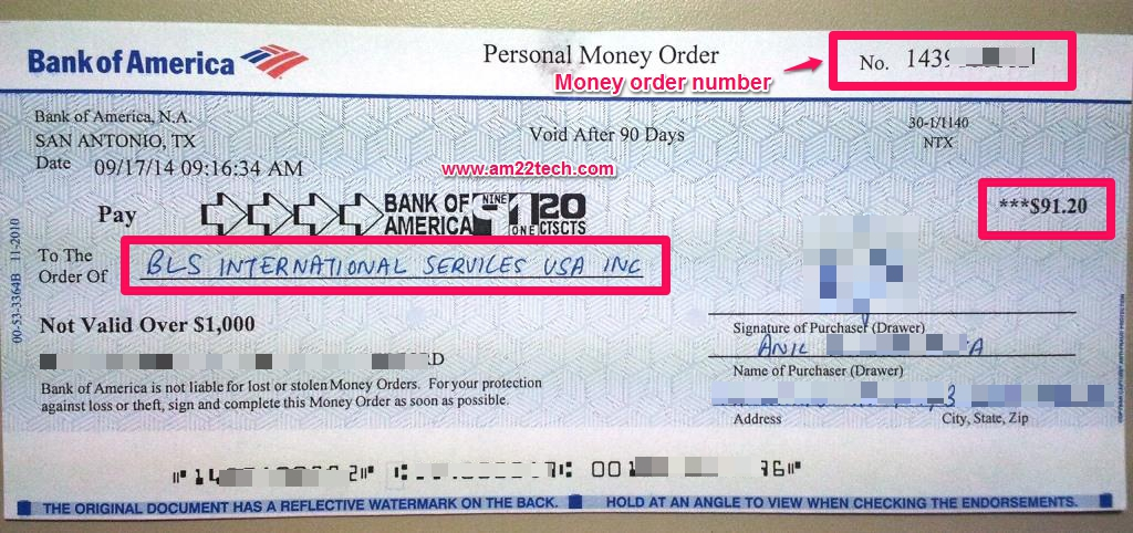 how to use a money order