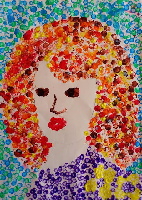 """Punctul-element de limbaj plastic: """"Portret de femeie"""""""