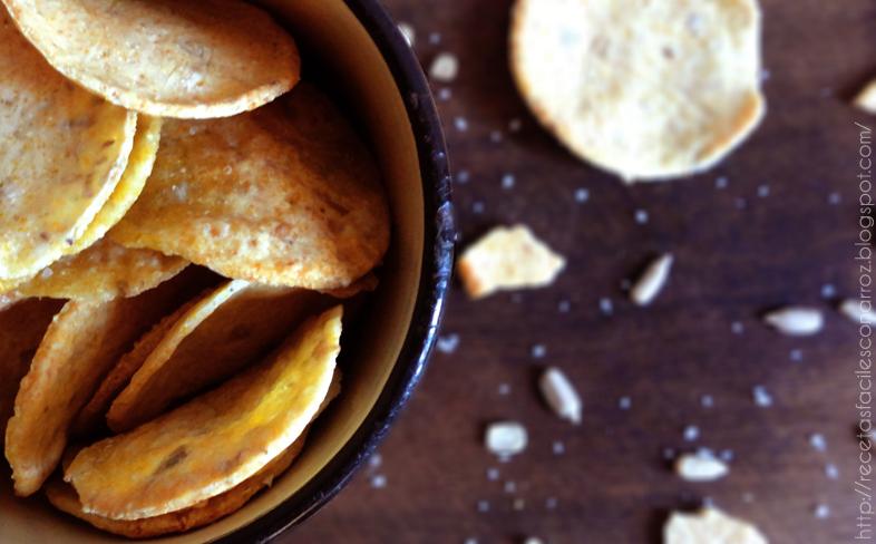 crackers sin gluten de arroz