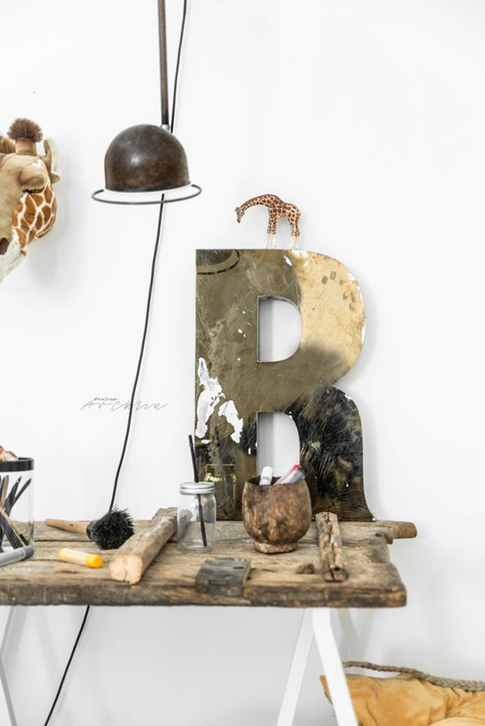 Kids desk with industrial touch styling/photography © Paulina Arcklin