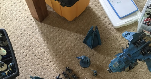 Orks vs Space Wolves first battle of Hour of the Wolf