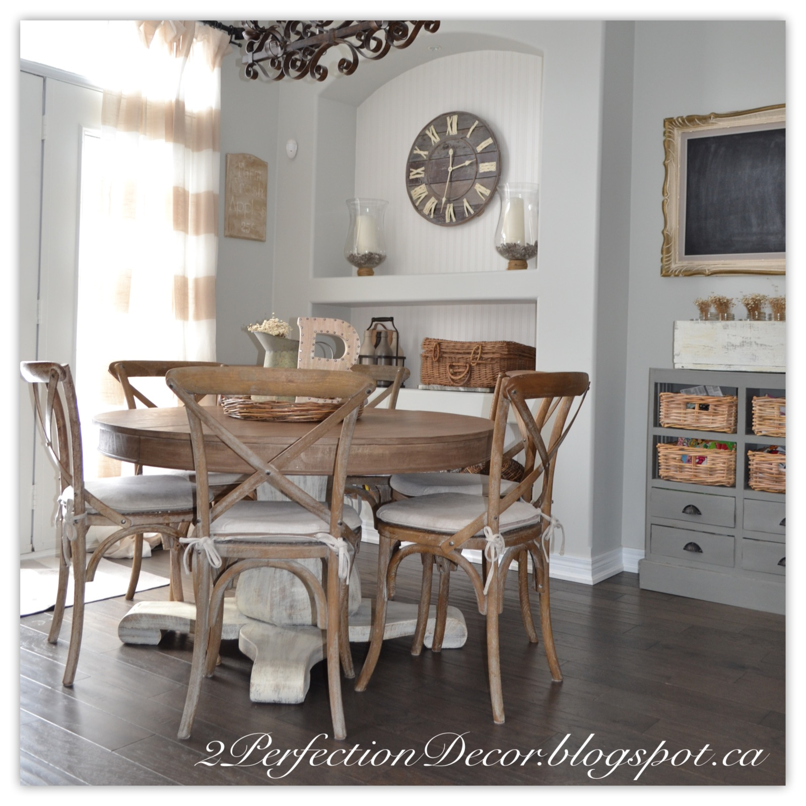 Kitchen Table Round: 2Perfection Decor: Round Kitchen Table Makeover